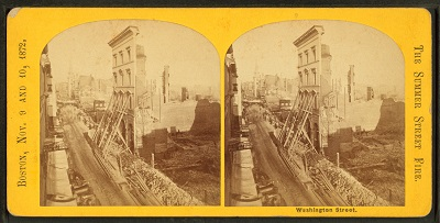 Summer Street after the Great Boston Fire of 1872
