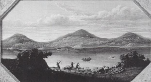 Trimount in 1630, painting by Samuel Lancaster Gerry, circa 1836