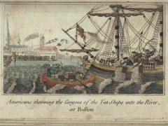 Boston Tea Party, engraving by W.D. Cooper, circa 1789