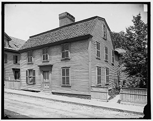 Nathaniel Hawthorne's birthplace at 27 Union Street in Salem circa 1900