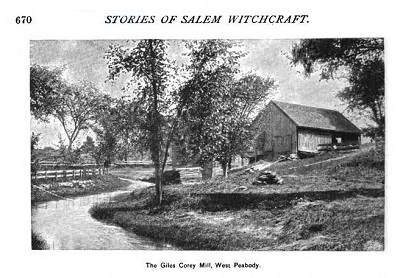"""The Giles Corey Mill, West Peabody,"" illustration published in the New England Magazine Volume 5, circa 1892"