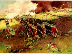 """The Battle of Bunker Hill"" oil painting by Howard Pyle, circa 1897"