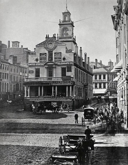 Old State House, Boston, Mass, circa 1860