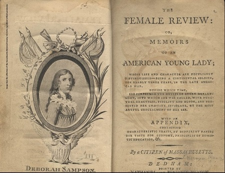 Deborah Sampson, title page of The Female Review, circa 1797