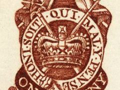Image of a One Penny Stamp used in the Stamp Act of 1765