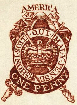 One Penny Stamp circa 1765