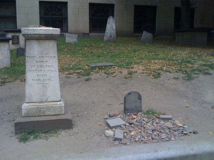 Paul Revere's grave, Granary Burying Ground, Boston, Mass