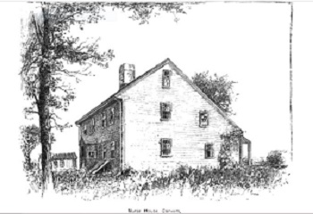 """Nurse House, Danvers,"" illustration published in The New England Magazine, Volume 5, circa 1892"