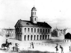 Faneuil Hall, engraving, circa 1789