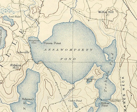 Map of the Lakeville area, circa 1893