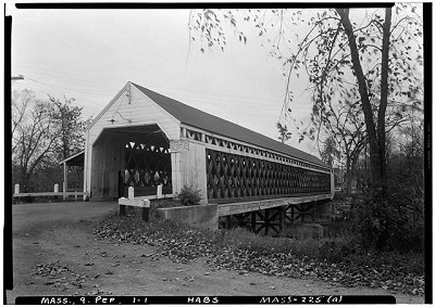 Nehemiah Jewett bridge, photographed by Frank O. Branzetti for the Historic American Buildings Survey, Oct. 17, 1940