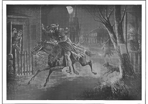 Paul Revere Illustration published in Paul Revere's Ride 1905 - 300 x 212