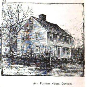 """Ann Putnam House, Danvers"" illustration published in the New England Magazine Volume 5, circa 1892"
