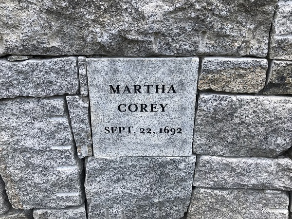 Martha Corey's Memorial Marker, Proctor's Ledge Memorial, Salem, Mass