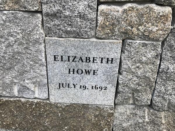 Elizabeth Howe's Memorial Marker, Proctor's Ledge Memorial, Salem, Mass