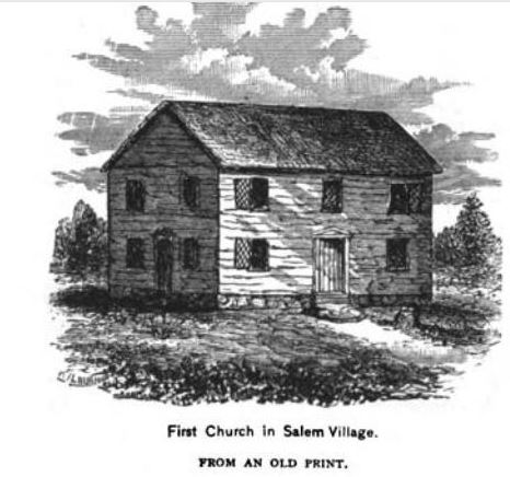 First Church in Salem Village, illustration published in the New England Magazine Volume 5, 1892