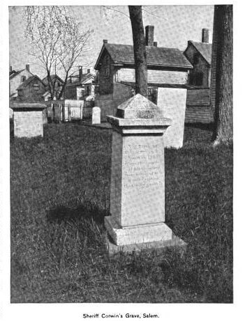 Corwin Family Tomb, photo published in the New England Magazine Volume 5, 1892
