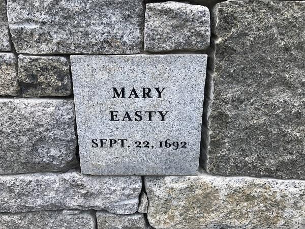 Mary Easty's Memorial Marker, Proctor's Ledge Memorial, Salem, Mass