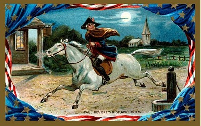 Paul Revere's Ride, postcard, circa 1910