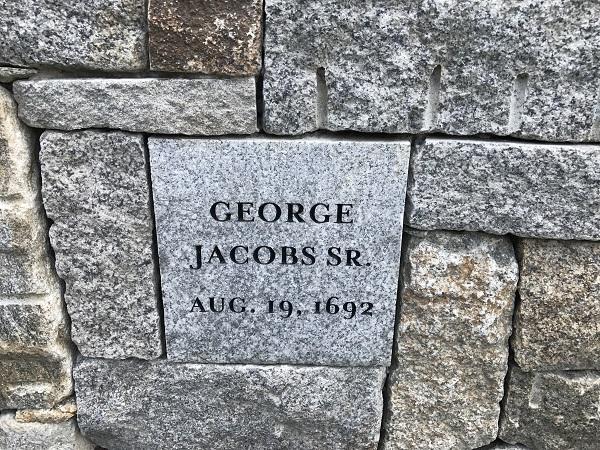 George Jacobs, Sr, Memorial Marker, Proctor's Ledge Memorial, Salem, Mass