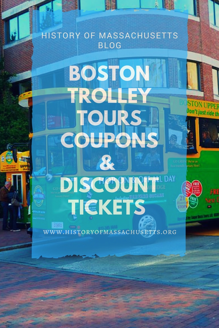 BOSTON TOUR COUPONS AND DISCOUNTS. Looking for the best deals during your trip to Boston? Enjoy these money saving coupons from Old Town Trolley Tours of Boston.