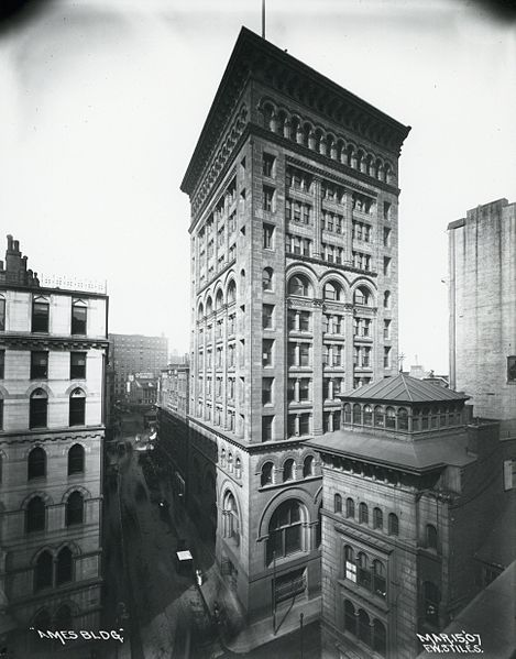 Ames Building, Boston, Mass, circa 1907