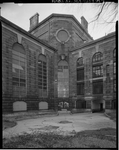 Charles Street Jail, Boston, Mass, photographed by the Historic American Buildings Survey