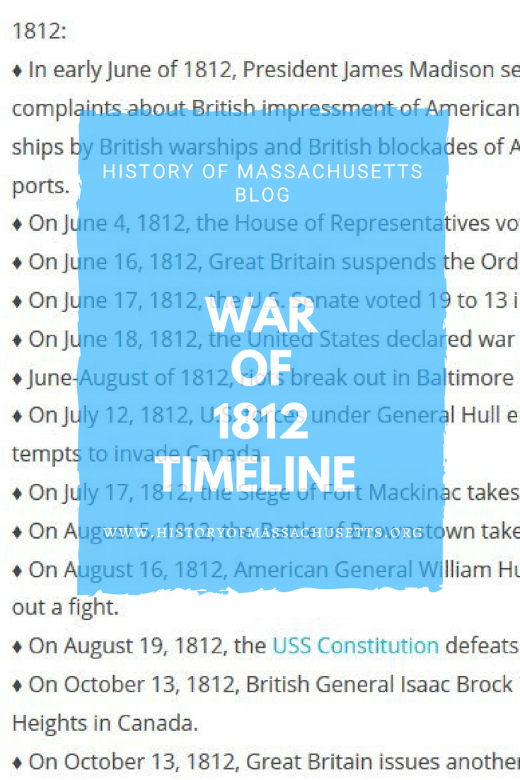 Timeline of the war of 1812 history of massachusetts blog war of 1812 timeline publicscrutiny Gallery