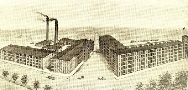 Berkshire Cotton Manufacturing Company, Adams, Massachusetts,illustration published in the Mason Machine Works catalog, circa 1898