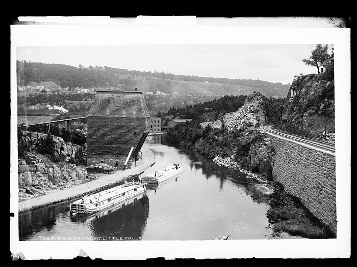 Erie Canal at Little Falls, NY, circa 1880-1897
