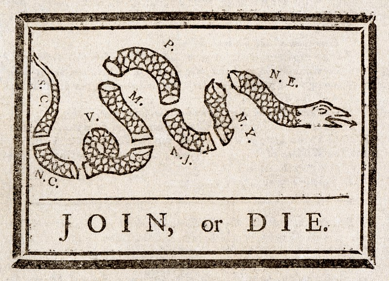 Benjamin Franklin's Join or Die political cartoon