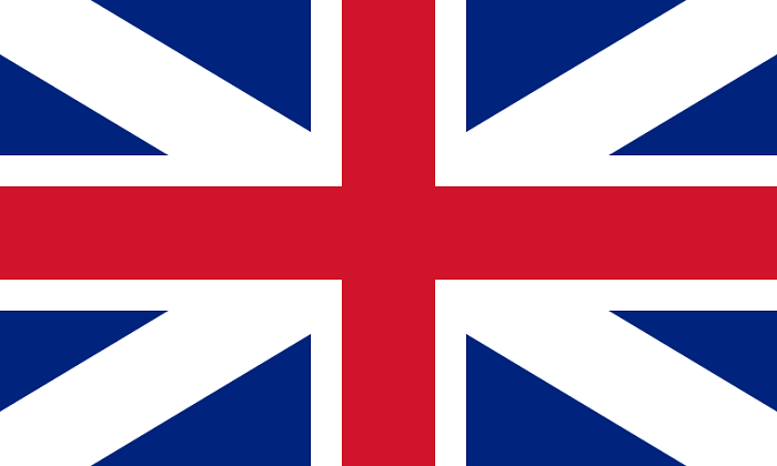 Flag of Great Britain, also known as the Union Jack, was first adopted in 1707