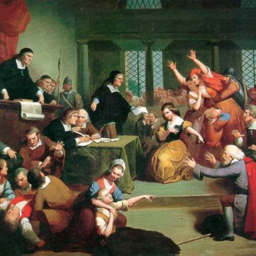 Trial of George Jacobs of Salem for Witchcraft, painting by Tompkins Harrison Matteson, circa 1855
