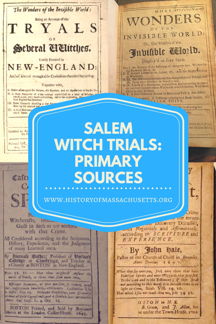 Salem Witch Trials Primary Sources
