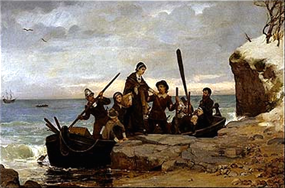 The Landing of the Pilgrims, by Henry A. Bacon, circa 1877