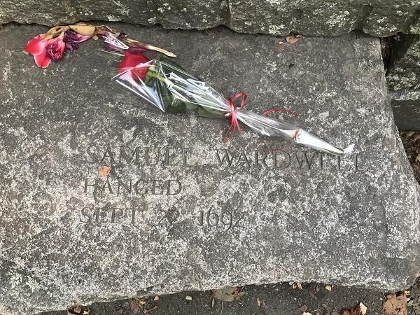 Samuel Wardwell's memorial marker, Salem Witch Trials Memorial, Salem, Mass