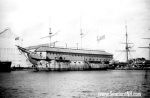 USS Constitution in the 1890s