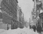 Winter Street in Boston photographed by John B. Heywood circa 1860s