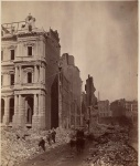 Post office on Milk Street after the Great Boston Fire of 1872. Photographed by James Wallace Black.