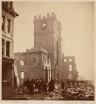 Trinity Church after the Great Boston Fire of 1872. Photo by James Wallace Black.