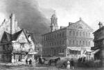 Illustration of Faneuil Hall in Arthurs Magazine circa July 1845