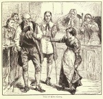 """The Trial Of Giles Corey"" Illustration by Charles Reinhardt, circa 1878"