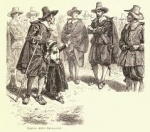 """Captain John Alden Denounced,"" Salem Witch Trials illustration by Charles Reinhardt, circa 1878"