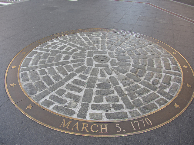 The Boston Massacre Marker now