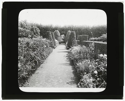 Frederick Strong Moseley house, Newburyport, Massachusetts. Pathway, upper terrace garden circa 1920