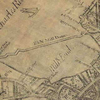 Early Boston map of Mill Pond, circa 1771