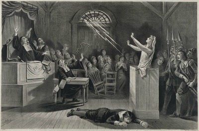 history of the salem witch trials the witch no  lithograph by joseph e baker
