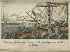 Boston Tea Party, engraving by W.D. Cooper, circa 1789