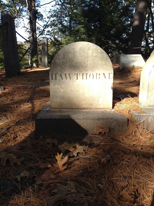 Nathaniel Hawthorne's grave at Sleepy Hollow Cemetery, Concord, Mass. Photo credit: Rebecca Brooks