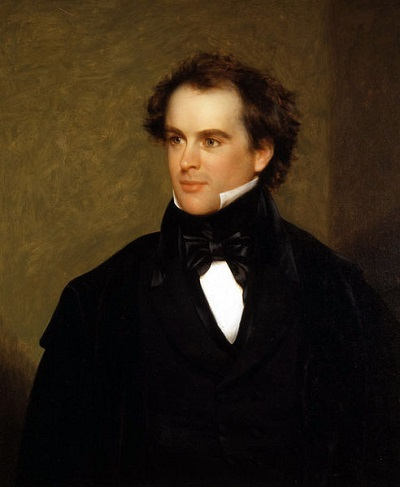 Nathaniel Hawthorne, oil painting by Charles Osgood, circa 1841